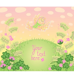 Cartoon romantic card a place for your text vector image vector image
