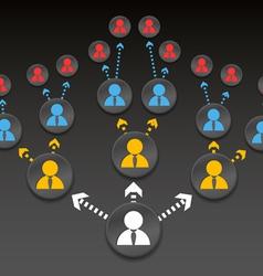 Company structure diagram vector