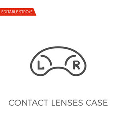 contact lenses case icon vector image