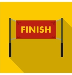 Finish line icon simple style vector image