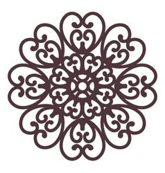 Floral filigree on background vector