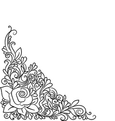 Hand drawn decorative floral element vector