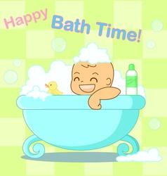Happy bath time vector