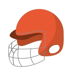 Helmet of american football sport design vector