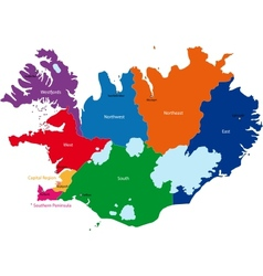 Iceland map vector image vector image