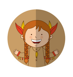 Indian cute girl character vector