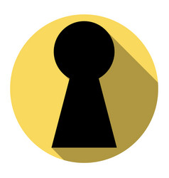 keyhole sign flat black icon vector image