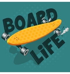 Long board board life vector