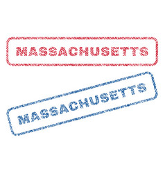 Massachusetts textile stamps vector