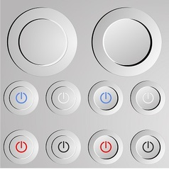 Metal switch button vector image vector image