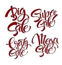 set Sale lettering vector image vector image