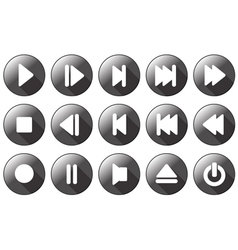 Simple multimedia icons vector