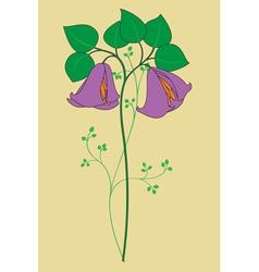 stemmed flower vector image vector image