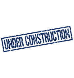 Under construction stamp vector