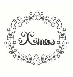 Xmas Card Winter Holiday Typography Handdrawn vector image vector image