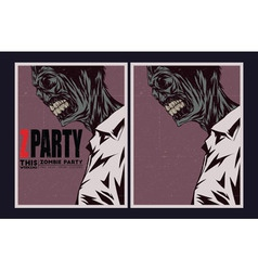 Zombie party invitation vector image