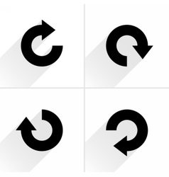 Black arrow sign rotation repeat reload icon vector