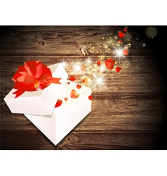 Valentine day magic gift vector