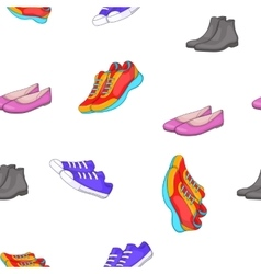 Shoes for man and woman pattern cartoon style vector