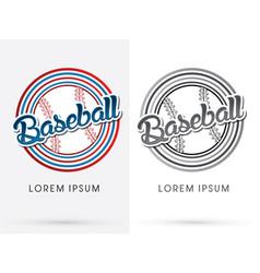 Baseball text vector