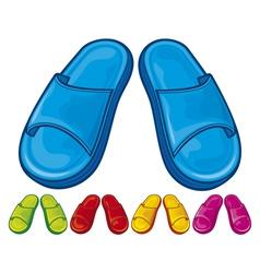 Flip flops set - slippers vector