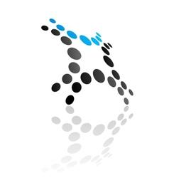 Abstract blue design symbol vector