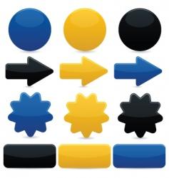 web navigation elements vector image