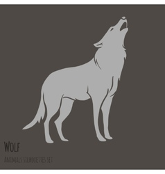 grey wolf silhouette royalty free vector image