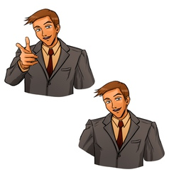 Business gesture by hand vector