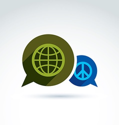 Peace for a world global peace icon conceptual vector