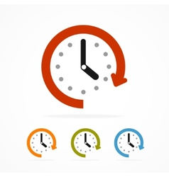 color clock icon vector image