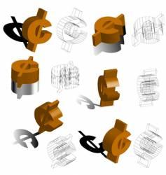 3d symbols cent vector