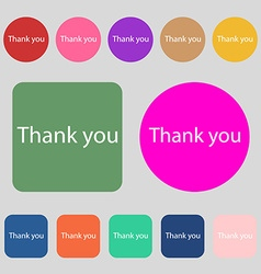 Thank you sign icon gratitude symbol 12 colored vector