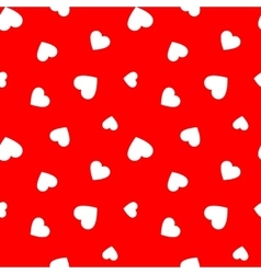 Red seamless pattern with simple hearts vector