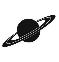 Saturn black simple icon vector
