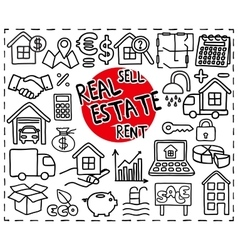 Real estate set vector