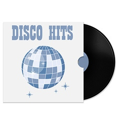 Vinyl record in cover vector image