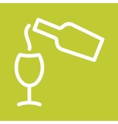 Pour Wine vector image