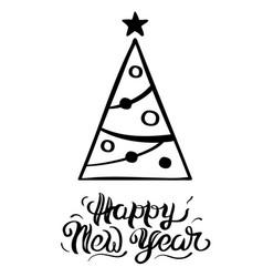 a greeting christmas tree vector image