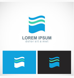 Abstract wave water logo vector