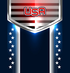 american backgrounds design vector image