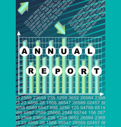 Annual report cover with graph and cifer group on vector