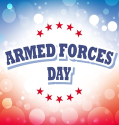Armed forces day america banner 1 vector
