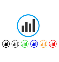 bar graph rounded icon vector image vector image