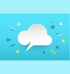 cloud banner speech bubble vector image vector image