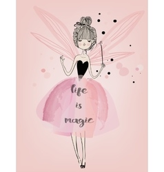 cute fairy girl vector image