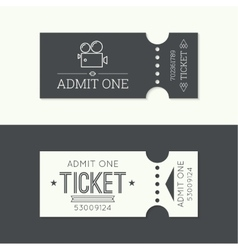 Entry ticket to old vintage style vector image vector image