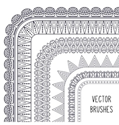 Ethnic brush collection vector image vector image