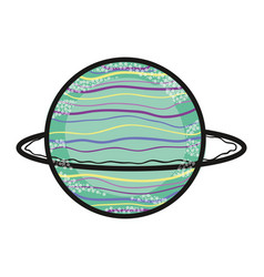 exploration uranus planet in the galaxy space vector image