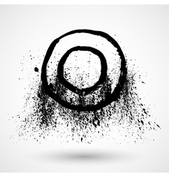 Ink grunge circle frame vector image